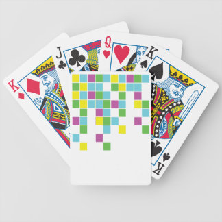 Neon Blocks Bicycle Playing Cards
