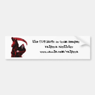 Neon Blood Grim Reaper Horseman Series by Valpyra Bumper Sticker