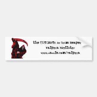 Neon Blood Grim Reaper Horseman Series by Valpyra Car Bumper Sticker