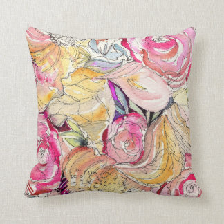 Neon Blooms Decorative Pillow