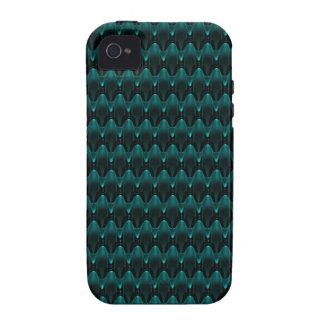 Neon Blue Alien Head Case-Mate iPhone 4 Cover