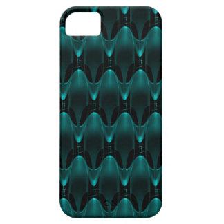 Neon Blue Alien Head iPhone 5 Case
