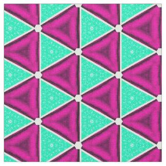 Neon blue and purple print fabric