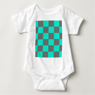 Neon Blue Blocks Baby Bodysuit