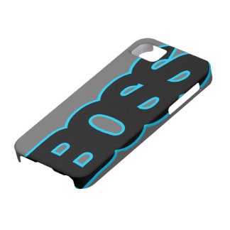 Neon Blue BOSS iPhone 5 Cover