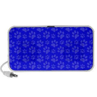 Neon blue dog paw print pattern speaker
