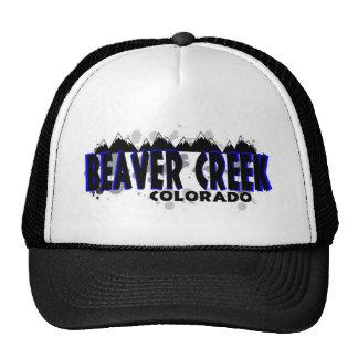 Neon blue grunge Beaver Creek Colorado hat