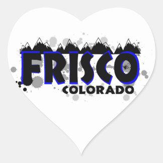 Neon blue grunge Frisco Colorado Heart Sticker