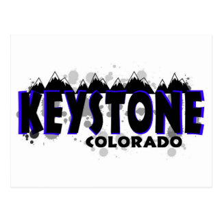 Neon blue grunge Keystone Colorado Postcard