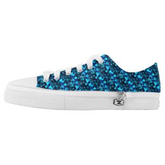 Neon Blue Heart Shoes