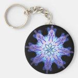 Neon Blue Kaleido-Twist Keychains