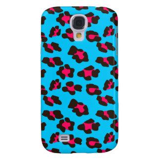 Neon Blue Leopard Print Galaxy S4 Case