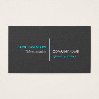 Neon Blue Line Business Card