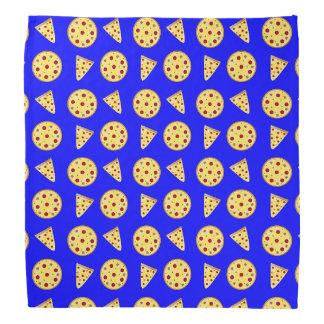 Neon blue pizza pattern bandana