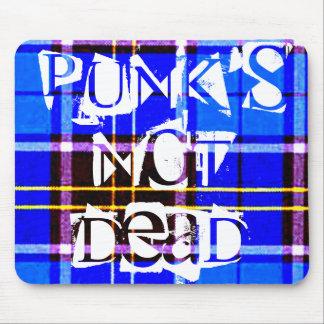 Neon Blue Plaid, Punk's Not Dead Mouse Pad