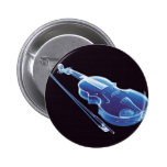 Neon Blue Violin Badge