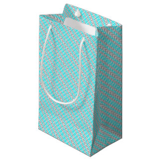 Neon Blue With Gray Fins Small Gift Bag