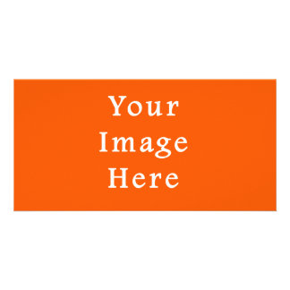Neon Bright Orange Color Trend Blank Template Customized Photo Card