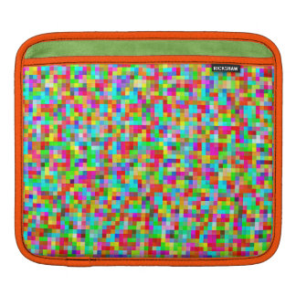 Neon Bright Pixels Pattern Decorative Protective iPad Sleeve