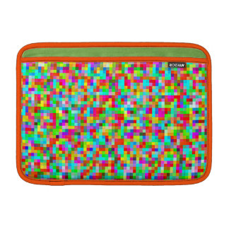 Neon Bright Pixels Pattern Decorative Protective MacBook Sleeve
