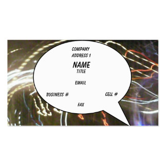 Neon Bubble Card (Balloon) Pack Of Standard Business Cards
