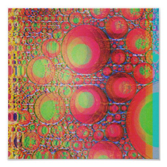 Neon Bubbles Poster