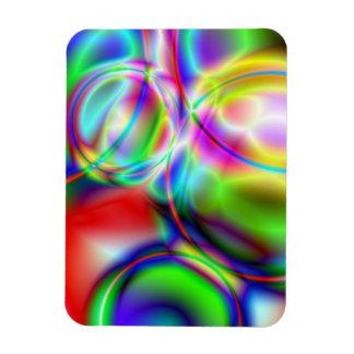 Neon Bubbles Flexible Magnets