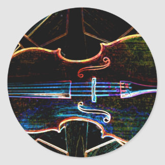 Neon Cello Classic Round Sticker