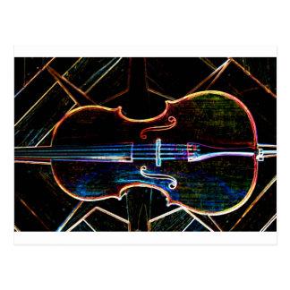 Neon Cello Postcard