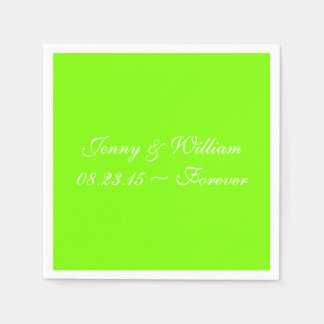 Neon Chartreuse Cool Solid Color Paper Napkins