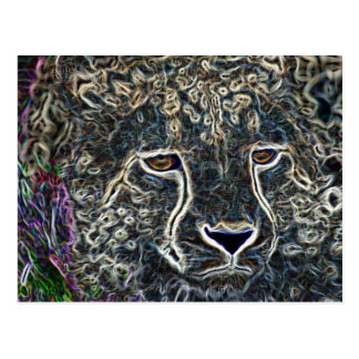 Neon Cheetah Postcard