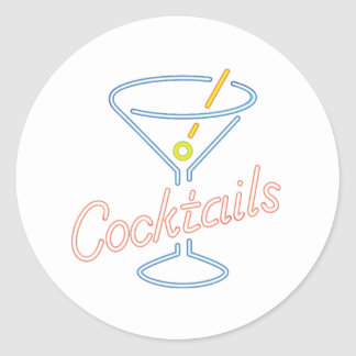Neon Cocktails Sign Stickers