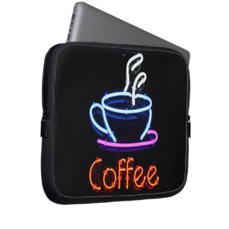 Neon Coffee Sign Laptop Sleeve