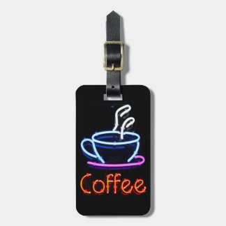 Neon Coffee Sign Luggage Tag