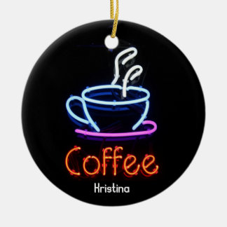 Neon Coffee Sign Ornament