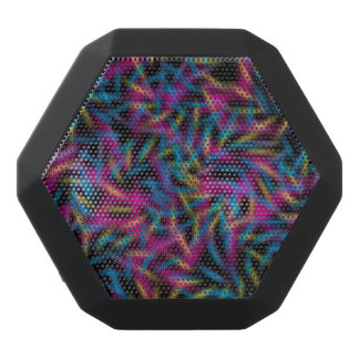 Neon Color Abstract Design Black Bluetooth Speaker