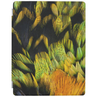 Neon Colored Tanager Feathers iPad Cover