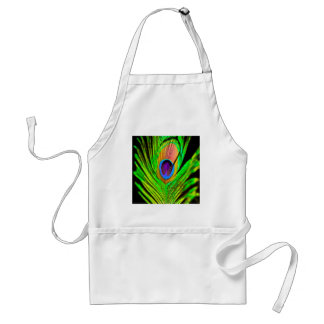 Neon Colors Peacock Feather Standard Apron