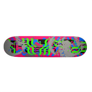 Neon Confetti Skull 21.6 Cm Old School Skateboard Deck