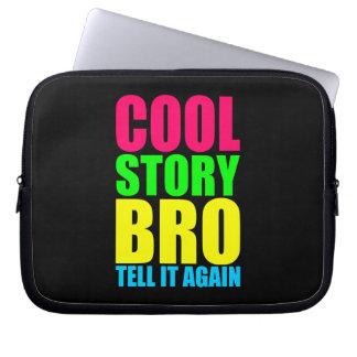 Neon Cool Story Bro Laptop Sleeve