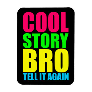 Neon Cool Story Bro Rectangular Photo Magnet