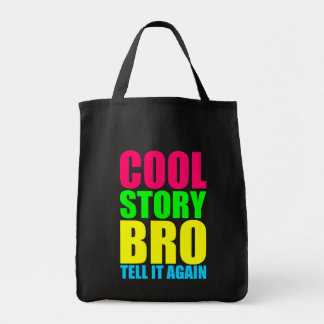 Neon Cool Story Bro Tote Bag