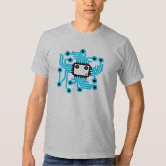 Neon CPU computer chip Tshirt