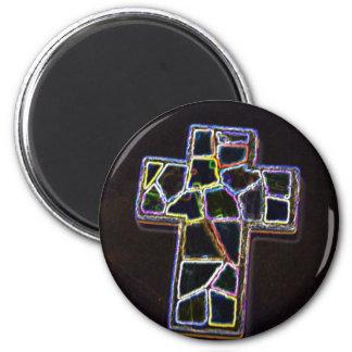 Neon Cross Magnet