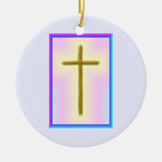 Neon Cross Memorial Ornament
