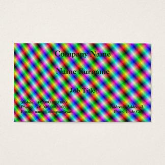 Neon Crosshatch Business Card