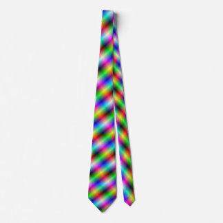 Neon Crosshatch Neck Tie