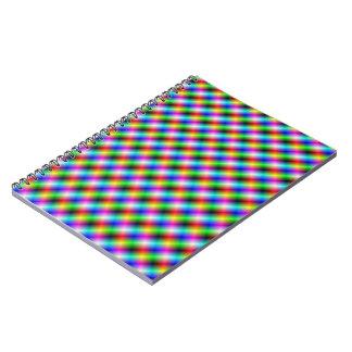 Neon Crosshatch Notebook