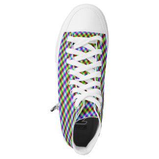Neon Crosshatch Printed Shoes