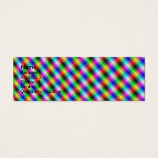 Neon Crosshatch Skinny Business Card